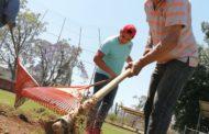 Recibe mantenimiento intenso Unidad Deportiva el Chamizal