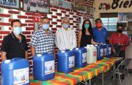 Entregan Tere Mora y Presidencia productos de limpieza a transportistas
