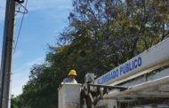 Instalan luminarias LED en Calzada Zamora-Jacona