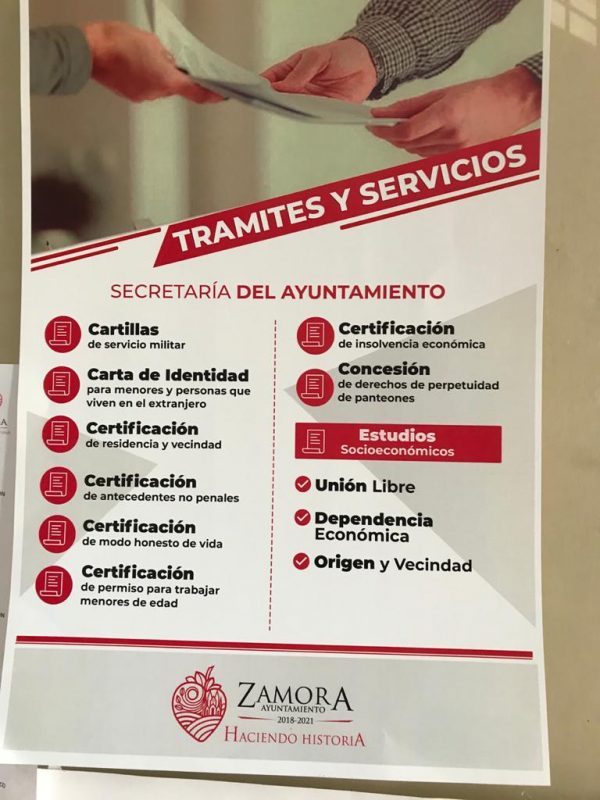 Secretaria del Ayuntamiento mantiene sus diversos servicios a la ciudadanía