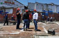 """Alcalde Martín Samaguey supervisa construcción de plazoleta """"Luis Hernández"""""""