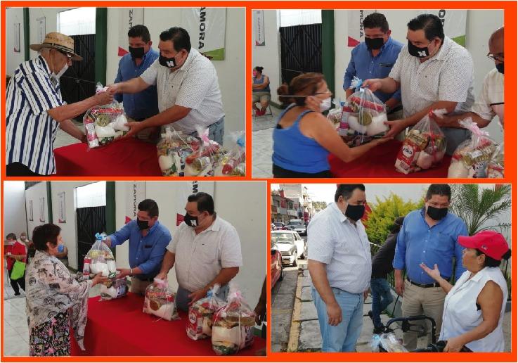 PRI Zamora mantiene la ayuda alimentaria a sus militantes