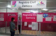 Registro Civil ofrece servicio por citas