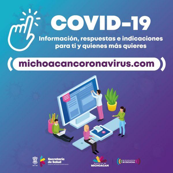 Ascienden a 903,025 mil las visitas al micrositio sobre COVID-19
