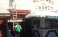 Dan mantenimiento a mercados Hidalgo y El Carmen