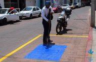 Balizan cajones para discapacitados en Tangancícuaro
