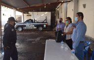 Entregan uniformes a elementos de Seguridad Pública de Tangancícuaro