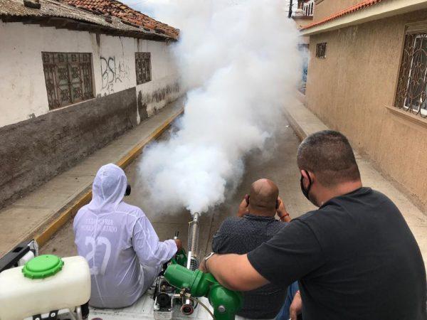 Campaña de fumigación contra el dengue va a Ario de Rayón