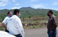 Realizan recorrido de supervisión en caminos de Tangancícuaro