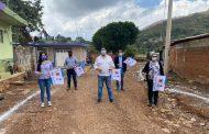 Inician trabajos de pavimentación en calle principal en el Sauz de Guzmán, Tangancícuaro