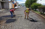 Brindamos mantenimiento a las vialidades del municipio