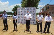 Ángel Macías inauguró obras en beneficio de la ciudadanía