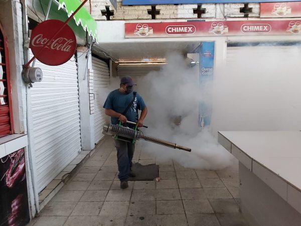 Inicia jornada de fumigación contra el dengue en mercados de Zamora
