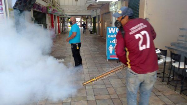Fumigan colonias, mercados y espacios públicos en Zamora