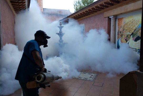 Desinfección y fumigación en Palacio Municipal de Jacona