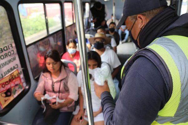 Exhorta SSP a acatar Decreto de uso obligatorio de cubrebocas en el transporte
