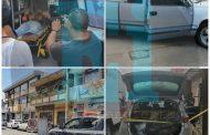 Pistoleros atacan a chofer de camioneta y se desata balacera en el Centro de Tangancícuaro