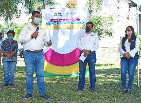Más obras para Tangancícuaro en Coordinación con SCOP