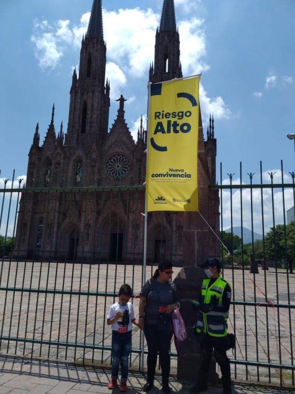 Permanentes, trabajos de la SSP contra COVID-19 en 8 municipios con Bandera Amarilla