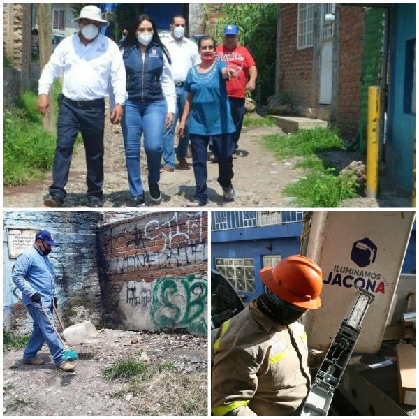 Mejoran condiciones de vida a vecinos de la colonia Lázaro Cárdenas en Jacona