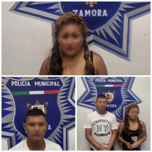 Captan cámaras del C5i entrega de droga; hay dos detenidos