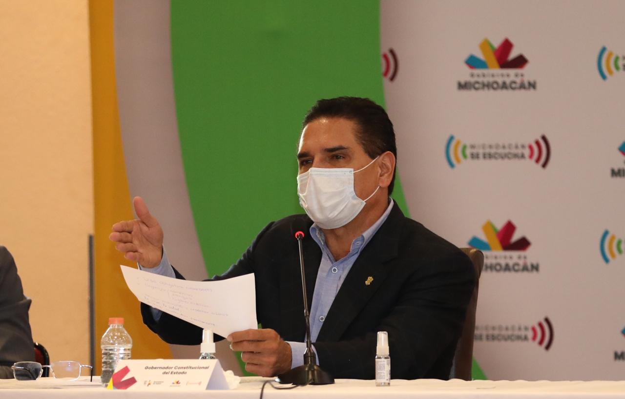 Gobernador de Michoacán da positivo a COVID-19