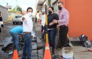 Adriana Campos cumple en el mantenimiento a calles y avenidas