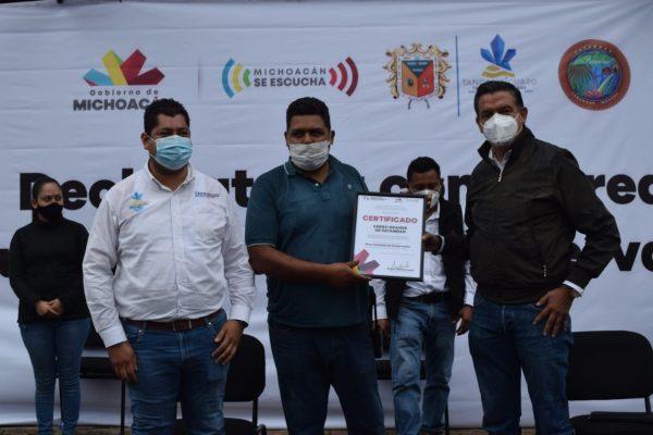 Compromiso cumplido, declaran área voluntaria para conservación del Cerro grande de Patamban