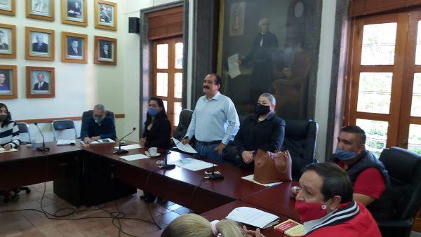 """Recibe Cabildo a la nueva mesa directiva del Sindicato """"Francisco J. Mujica"""""""