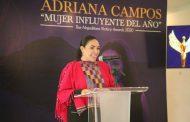 """Adriana Campos, la """"Mujer Influyente del Año"""""""