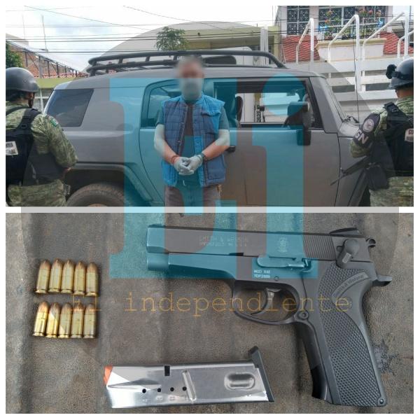 Tras enfrentamiento de Tangancícuaro GN detiene a empistolado