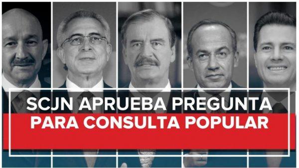 La Suprema Corte avala constitucionalidad de consulta a expresidentes