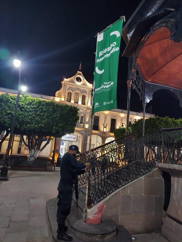 Mantiene SSP combate contra COVID-19 en Sahuayo; continua con Bandera Verde