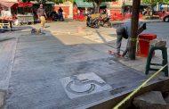 En Mercado Hidalgo de Zamora Construyen paso peatonal en Corregidora y Allende