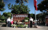 Ayuntamiento de Jacona realizó acto cívico por el 110 Aniversario de la Revolución Mexicana