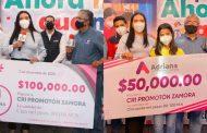 Adriana Campos demuestra su solidaridad y aporta 150 mil pesos al Promotón