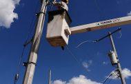 Mejoran sistema de alumbrado público en El Llano