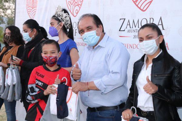DIF Zamora promueve el deporte y valores entre los niños