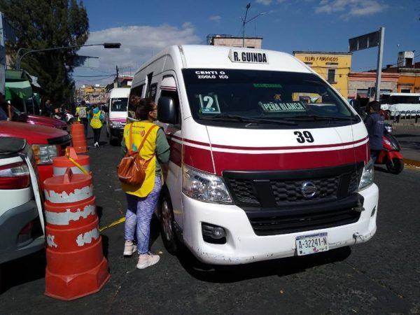 Realiza Guardianes de la Salud operativo en transporte público