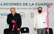 Inaugura el presidente AMLO instalaciones de la GN en Zamora