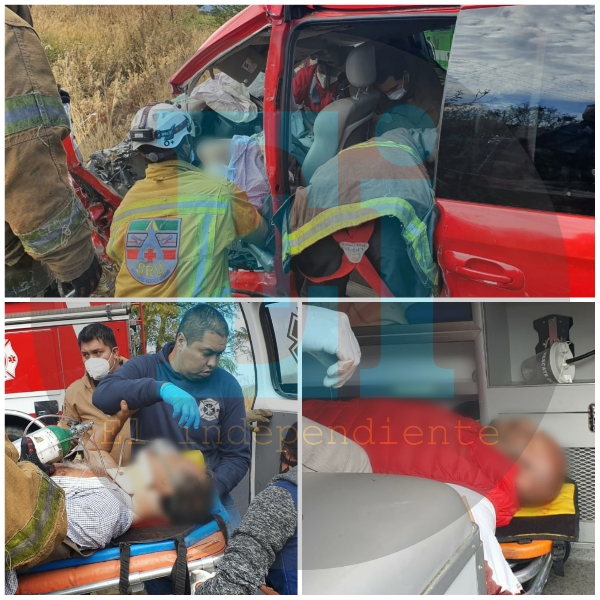 Dos heridos prensados, deja aparatoso choque en la Jacona – Los Reyes