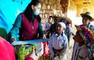 Delegación de turismo de Zamora repartió juguetes a mil niños de Tarecuato