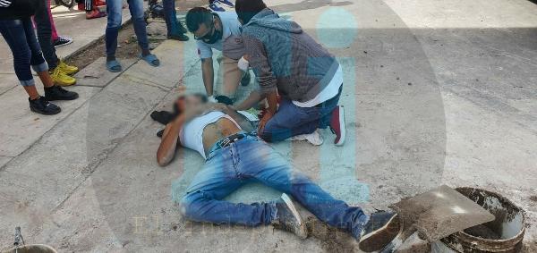 Albañil es baleado en el Fraccionamiento Altamira