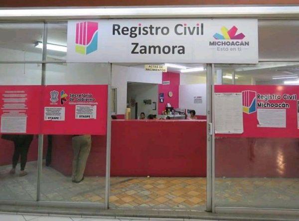 Esta semana permanecerán cerradas oficialías del registro civil