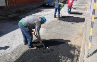 Vigente mantenimiento a vialidades en Zamora