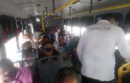Microbuseros son revisados, deben cumplir con medidas para evitar COVID