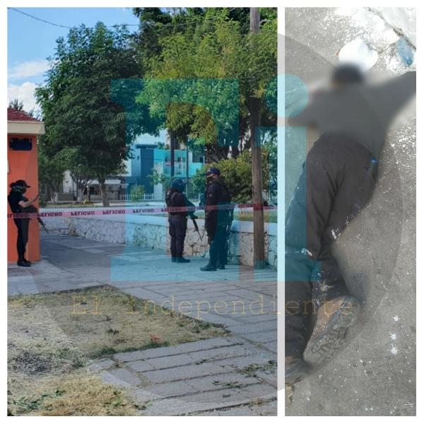 Hombre es asesinado mientras trabajaba pintando en la plaza del Infonavit la Pradera