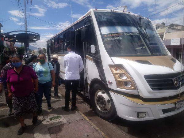 Transporte público responde a operativos de COCOTRA; cumple medidas sanitarias