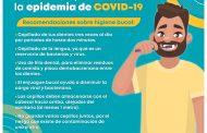 Salud bucal, importante durante epidemia por COVID-19