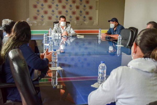 Coordinan acciones para uso del cubrebocas obligatorio en Tangancícuaro